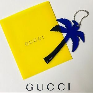 GUCCI PALM TREE KEYCHAIN NEW & AUTHENTIC IN BOX